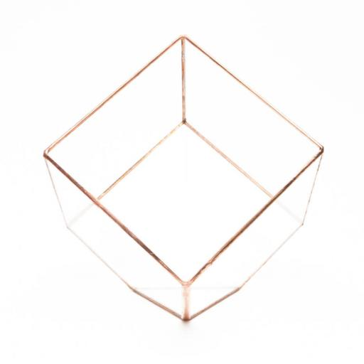 Empty Copper Cube Terrarium