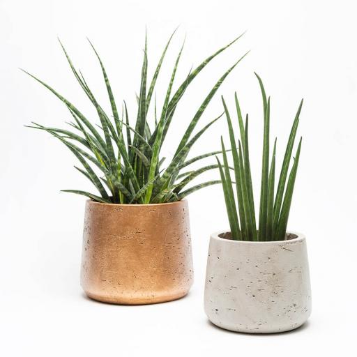 Copper Stone Planter Duo