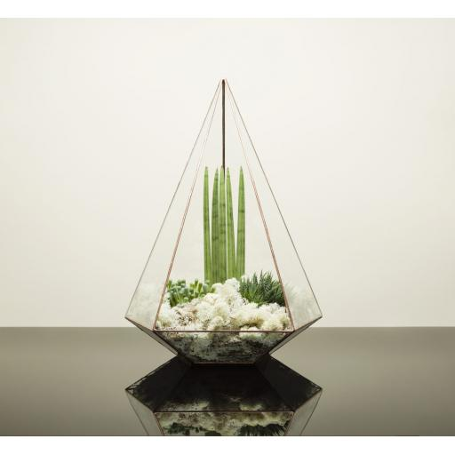 Diamond Anniversary Supersize Copper Jewel Terrarium