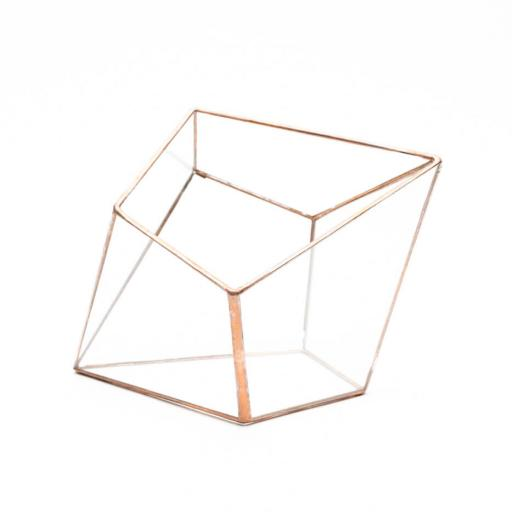 Empty Copper Diamond Terrarium