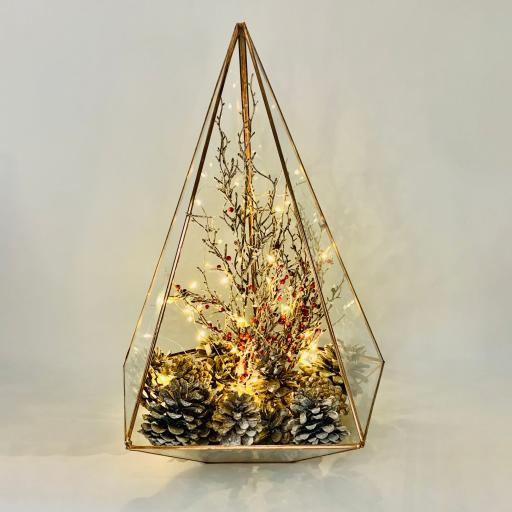 Christmas Supersize Copper Jewel Berries Terrarium