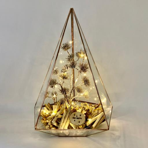 Christmas Supersize Copper Jewel Rustica Terrarium