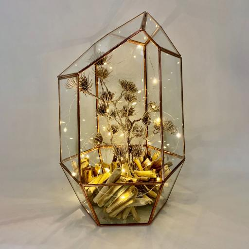Christmas Supersize Copper Gem Rustica Terrarium