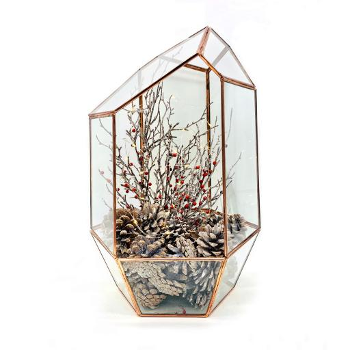 Christmas Supersize Copper Gem Berries Terrarium