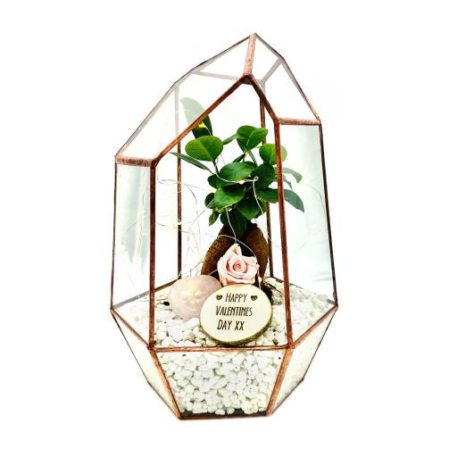 Valentines Copper Bonsai Gem Terrarium