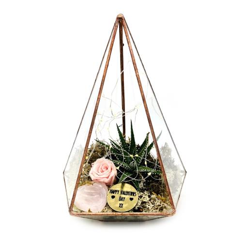Valentines Copper Jewel Terrarium