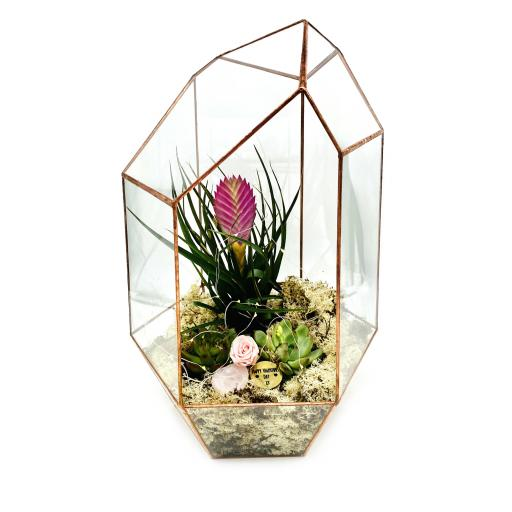Valentines Supersize Copper Gem Terrarium