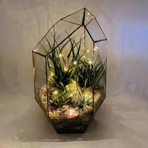 Amethyst Supersize Copper Gem Terrarium