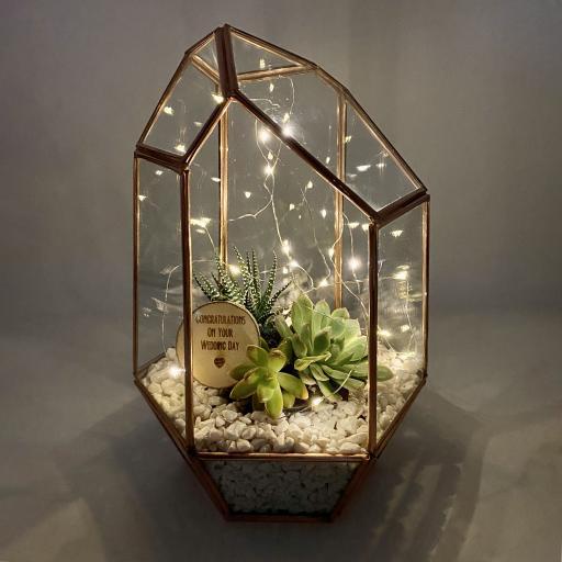 Wedding Gift Copper Gem Terrarium