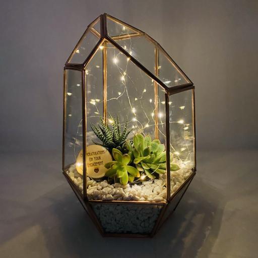 Engagement Copper Gem Terrarium