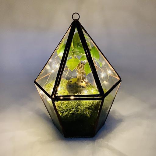 Mini Copper Bonsai Tree Lantern