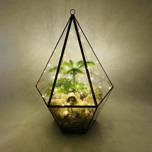 Supersize Christmas Tree Copper Lantern
